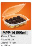MPP-16 EMBALAGEM PP TAMPA ARTICULADA 500 ML C/ 100 UN.