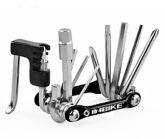 Kit de ferramentas preto com extrator de corrente para bicicleta