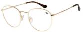 Armação Para Óculos De Grau Unissex Chilli Beans Redondo Dourado