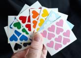 Adesivos Corações 8 Cores - Heart Stickers 15mm