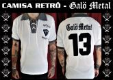 Galo Metal - Camisa Modelo Retrô Listrada