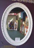 Moldura de oval (de resina) com espelho