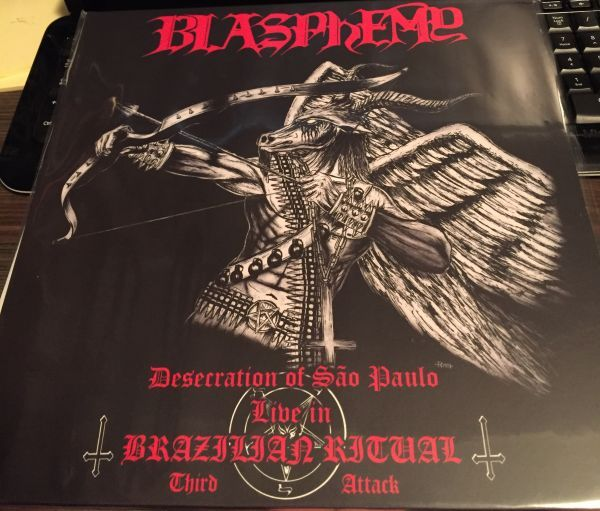 BLASPHEMY - Desecration of Sao Paulo - Live in Brazilian Ritual Third Attack - Red lp