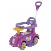 Carrinho e Andador Rosa Baby Car para Bebê com Empurrador Meninas - Biemme 509