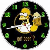 Relógio Parede Homer Simpson Duff Beer