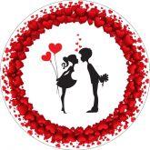 Papel Arroz Corações Redondo 007 1un