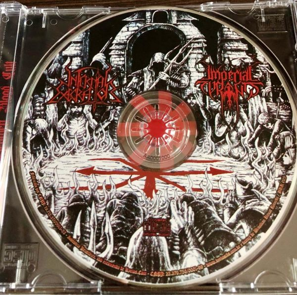 INFERNAL EXECRATOR / IMPERIAL TYRANTS - M.C.B.L. Heathen Blood Cult - CD (Split)