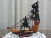 Galeão Caravela Decorativo 27 Cm Réplica Artesanal Madeira