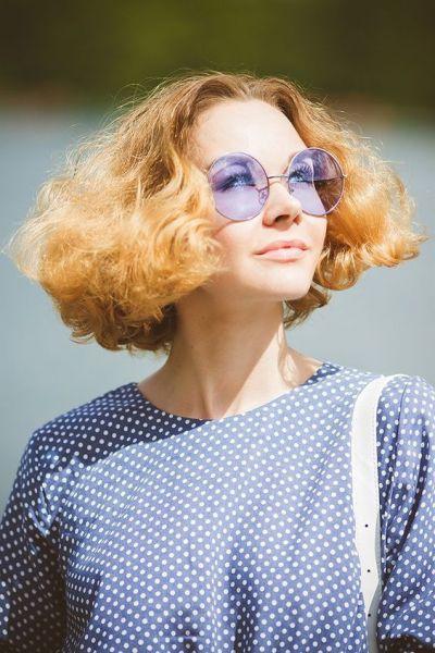 Óculos Redondo Pastel Purple