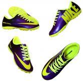 383727f583997 Chuteira Society Nike Mercurial Roxo e Amarelo