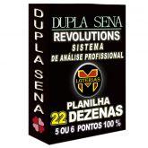 Planilha DUPLA SENA, aposte com 22 dezenas em 2215 jogos, 4, 5 ou 6 pontos 100%.