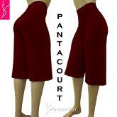 Pantacourt (P-M-G), cintura alta, tecido suplex 320/360