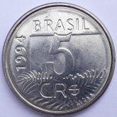 5 Cruzeiros Reais 1994 SOB/FC