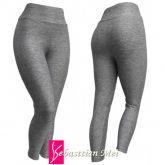 legging cinza plus(56/58-60/62),cintura alta, tecido suplex gramatura 320/360