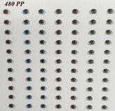 Kit com 10 Cartelas de Olhos 480PP - 96 pares de olhos cada
