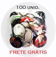 BOTTONS 3,5 CM IMAGENS ALEATÓRIAS - 100 UNID.