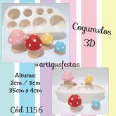 Cogumelos 3D- Cód 1156