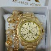 cd0a5ed8ee6 Relógio Feminino Mk Dourado fosco