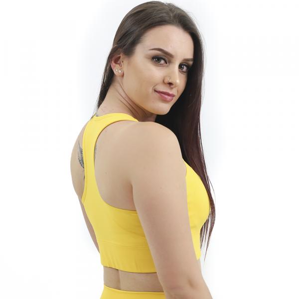 Top Nadador de Compressão Liso Amarelo - Emana