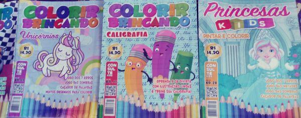 Kit com 6 Revistinhas para colorir