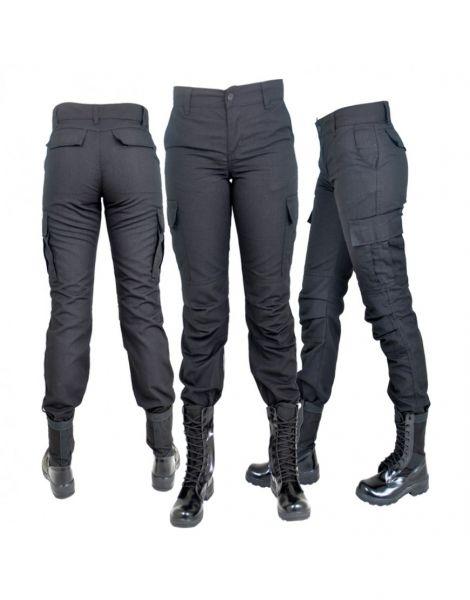 18f900013 Calça Tática Militar Feminina Preta - Mil Coisas ML