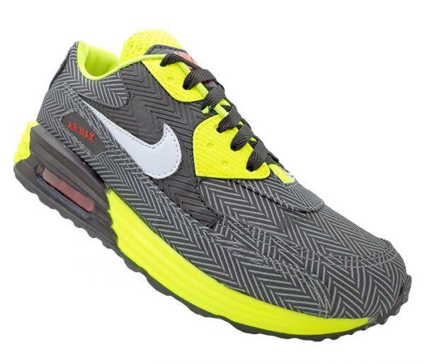 2a2f7323260 Tênis Nike Air Max 90 Preto e Verde Limão MOD 13171 - Multimarcas Outlet