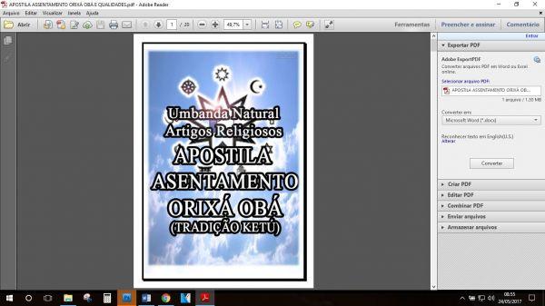 APOSTILA ASSENTAMENTO ORIXÁ OBÁ