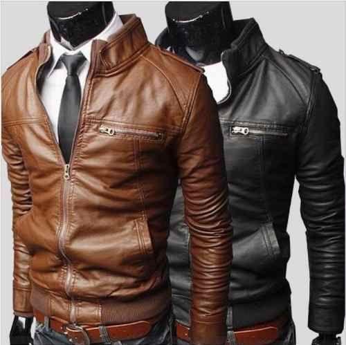 1ce98541f7 Jaqueta Casaco Couro Pu - Slim Fit Importado - Loja de beleza da moda