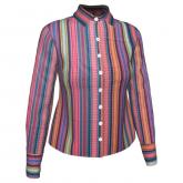 Camisa manga longa listra étnica