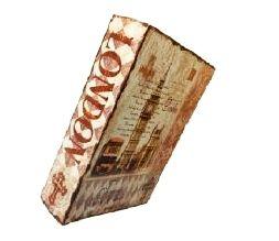 Livro Caixa De Madeira - Coleção Livros 007 - London 29 Cm