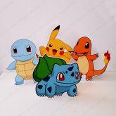 4 Displays de mesa - Pokémon
