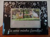 Porta Retrato Vidro Amo Minha Familia 15 Cm X 10 Cm