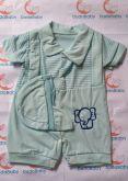 Macacão de Bebê Curto Céu - Tam. P
