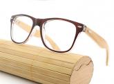 madeira de bambu Clássico Feminino E Masculino Armação Para Óculos Óculos de Sol Marrom Óculos