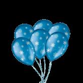 Balão Decorado Flocos de Neve Nº9 25un
