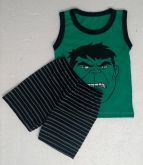 Conjunto Camisa Regata e Short Personagens - Hulk - Tam. G