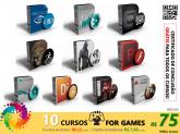 COMBO GAMES - 10 Cursos Completos + Certificado de Conclusão + FRETE GRÁTIS