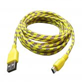 Cabo de Dados USB Corda Micro USB V8 1 Metro Multe Color