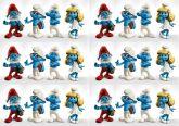 Papel Arroz Smurfs Faixa Lateral A4 009 1un
