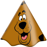 Chapéu de Aniversário Scooby Doo - Festcolor