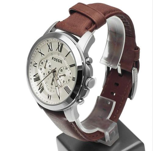 6d77c87c76d Relógio FOSSIL-Fs4735 pulseira em couro analógico de luxo - Loja de ...