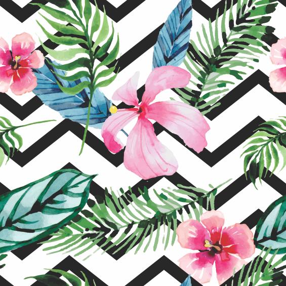Adesivo papel de parede tropical chevron mania que cola for Papel de pared paisajes