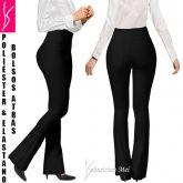 calça preta plus bolsos atrás(48/50-52/54), tecido liso, flare ou reta