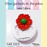 Mini Guirlanda de Florzinhas com Esfera Cód 1113