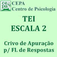 02.04 - TEI - Teste Equicultural de Inteligência - Escala 2 - Crivo de Apuração p/ Fls. de Respostas