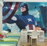 Adesivo de Parede Capitão América Vingadores