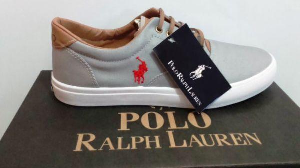 Tênis Polo Ralph Lauren - Cinza - Shop Calçados   Cia bc53ede28c0