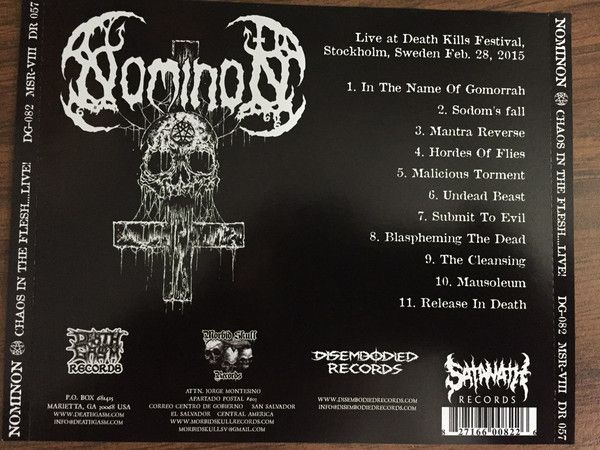 NOMINON - Chaos in the Flesh...Live! - CD