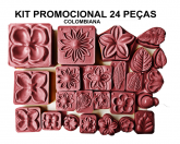KIT PROMOCIONAL 24 PEÇAS ROSAS COLOMBIANA