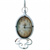 Relógio Metal Vintage Retro De Mesa Pendente (Pêndulo) 22x16cm
